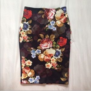 Dresses & Skirts - Stretchy floral pencil skirt